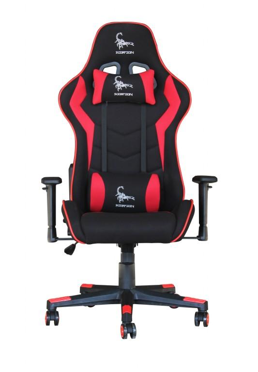 Gaming Chair Scorpion Black Red Mesh Gc Scorpion 01