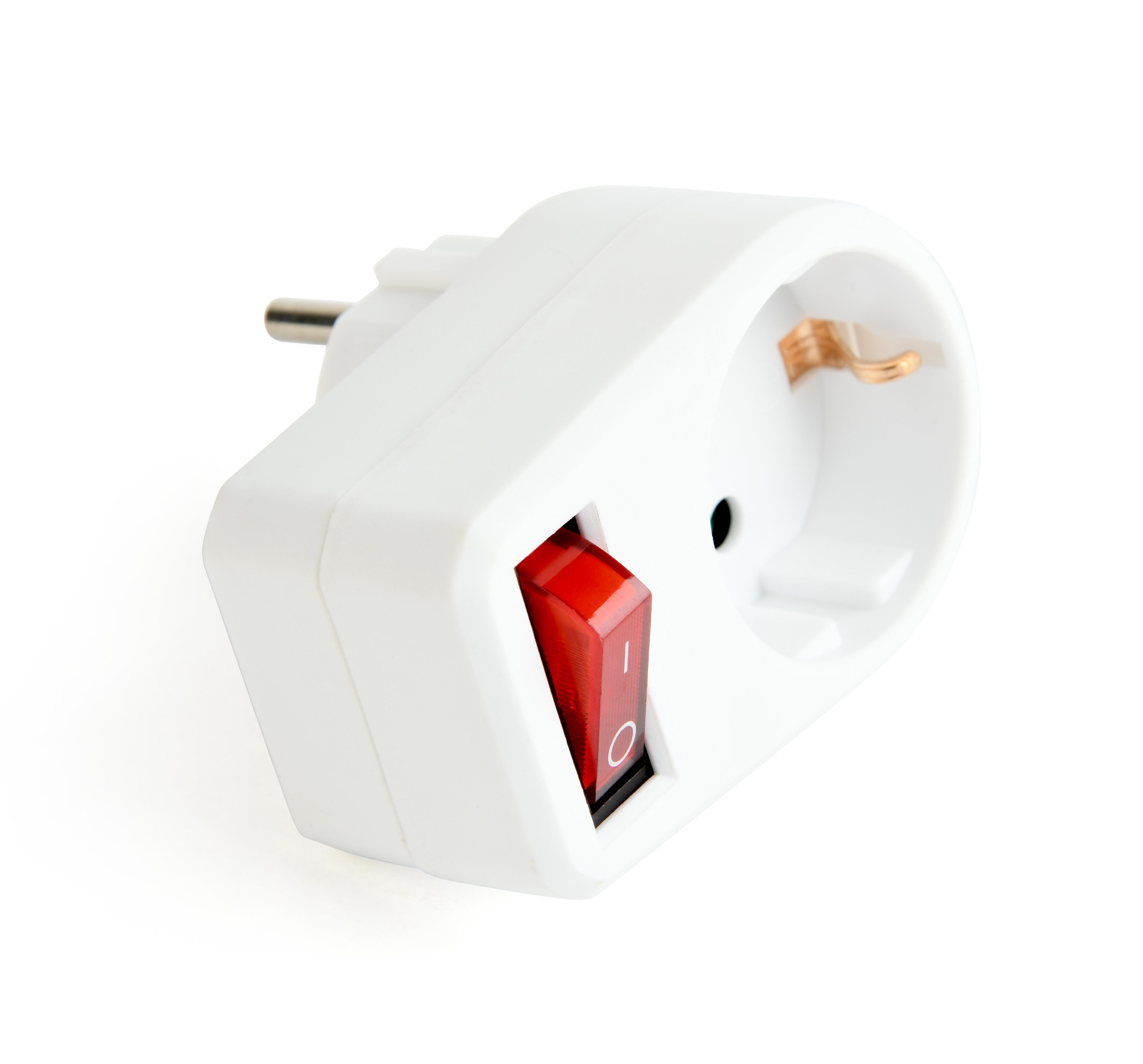 1 pièces protection contact-connecteur prise schuko avec Interrupteur schuko